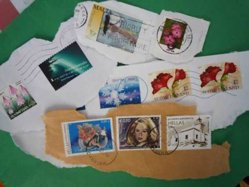 Digital project it may have been but due to EU funding, multiple paper documents had to be sent back and forth, but that did result in a lovely stamp collection!