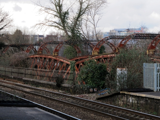Redundant rail bridge at Stapleton Road station