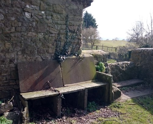 Churchyard seat (ex gravestones?)