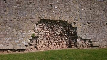 Inside Roman wall