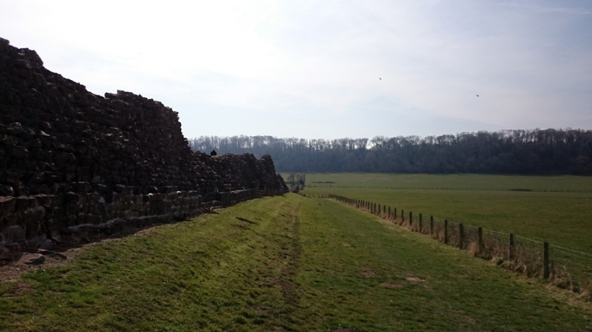 The edge of the Roman Town