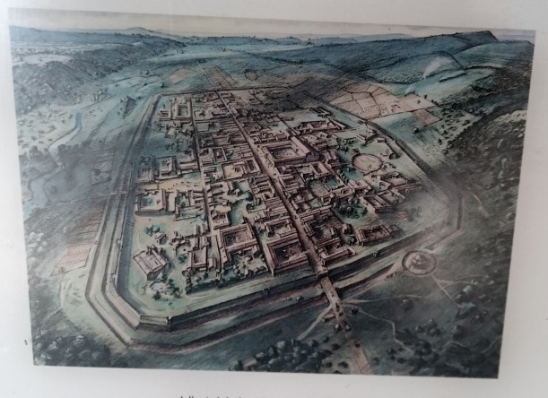 How the Roman town might have looked in the 4thC AD