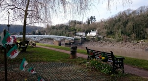 The Regency bridge crossing between Wales and England
