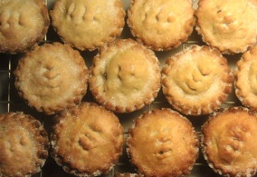 Mince pies, made from the old family recipe