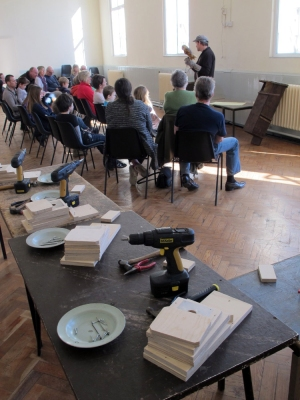 Nest box workshop with Barn Owl and 'Owl Man', Chris Sperring.