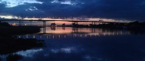 Sunset, M5 summer high tide