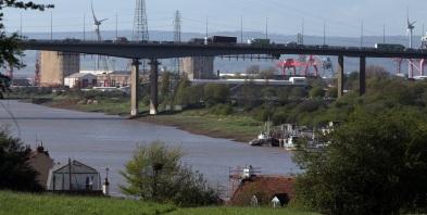 Avonmouth docks with M5 bridge