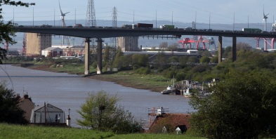 Avonmouth docks with M5 bridge