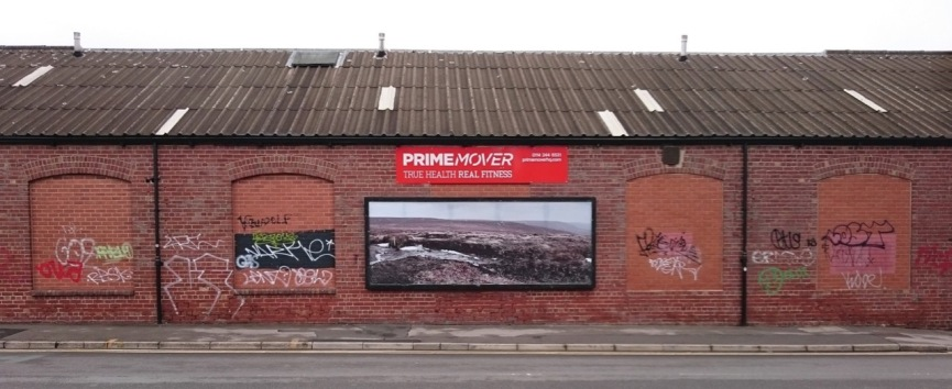Photographic billboard (but not an advert) of the Peak District