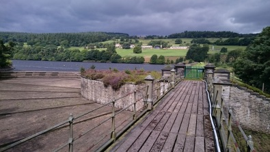 The reservoir at the dam end